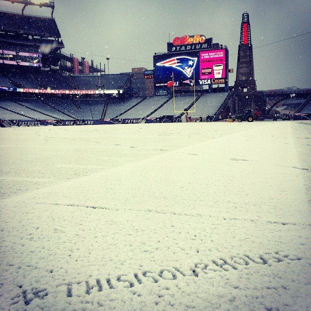 New England Patriots This Is Our House Gillette Stadium 11/2/14