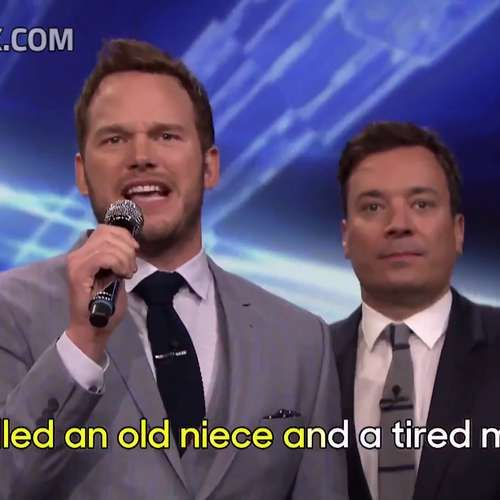 Jimmy Fallon and his celebrity guest Chris Pratt performed some very special karaoke on The Tonight Show. Instead of singing a regular version of Uptown Funk and Stay With Me, the two performed 'nonsense' versions of the songs with ridiculous lyrics.  The results are hilarious.