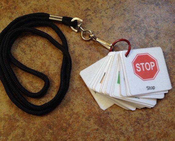 Autism ADHD PEC symbols on the go lanyard schedule por LearningSPED