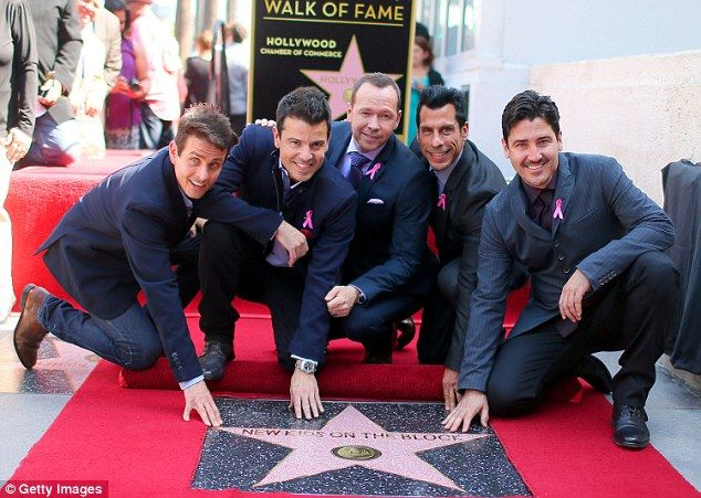 What a blast from the past! New Kids On The Block score a star on the Hollywood Walk Of Fame