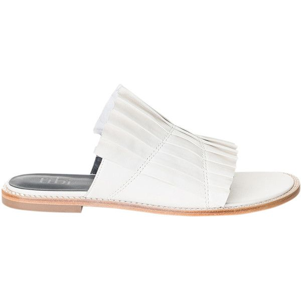 Jill Slide Sandal ($395) via Polyvore featuring shoes, sandals and slide sandals