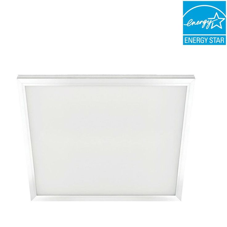 Commercial Electric 2 ft. x 2 ft. 47-Watt White Integrated LED Edge-Lit Flat Panel T-Bar Grid Troffer Recessed/Flushmount