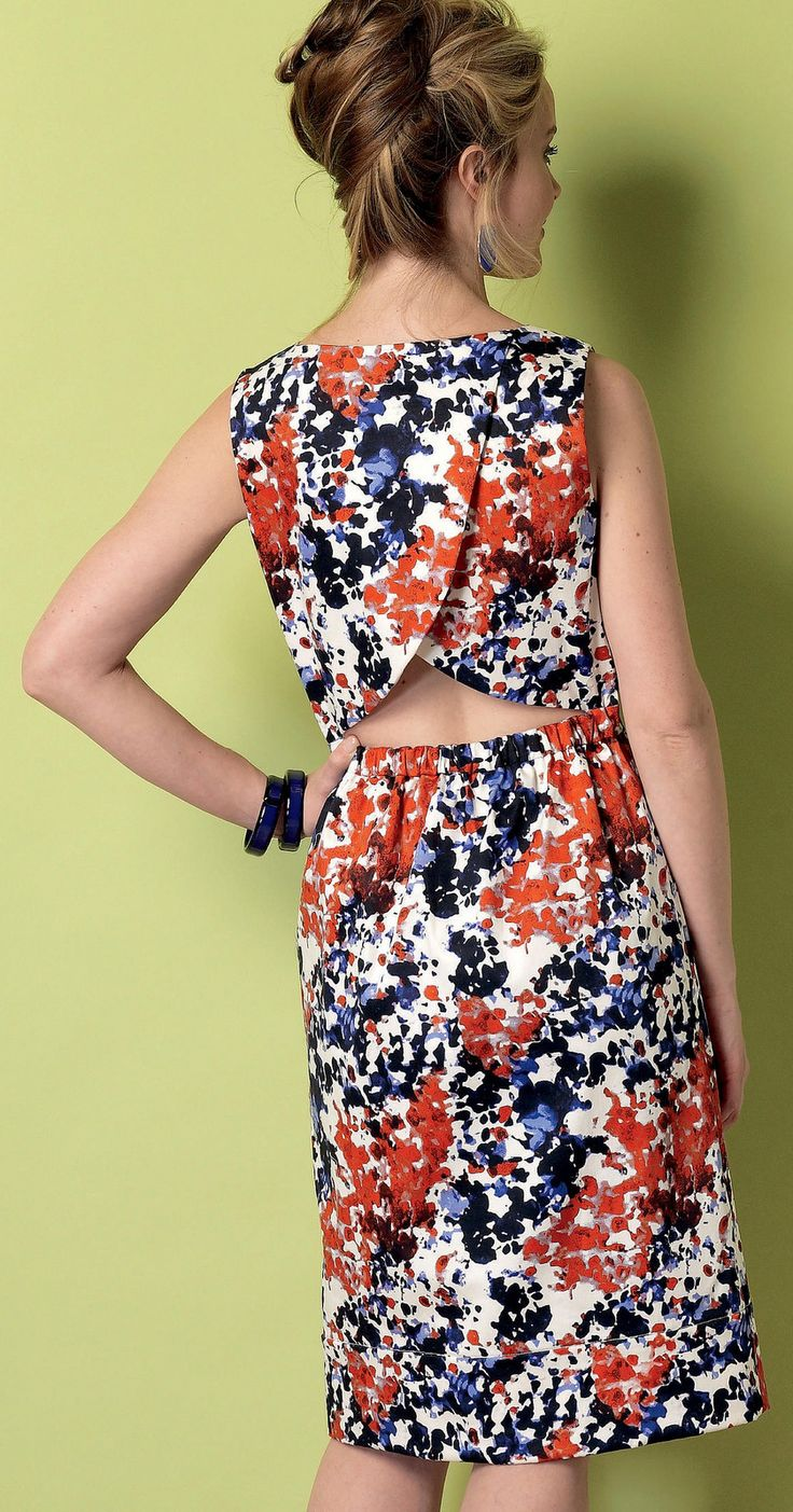 Tulip Shaped Open Back Dress Butterick B6351 Https