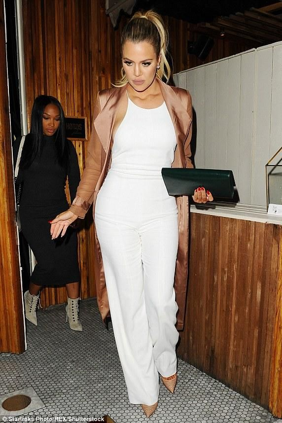 mens black studded loafers - Khloe Kardashian wearing Yves Saint Laurent Belle De Jour Clutch ...