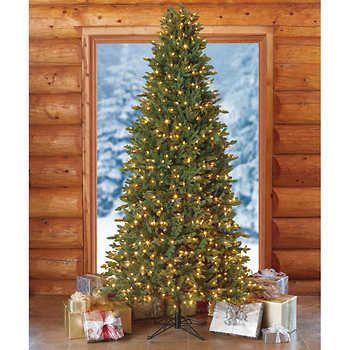 Fabulous  Costco u Artificial Pre Lit Slim Christmas Tree Schlank WeihnachtsbaumFarbwechsel LedBeleuchtung FarbeVer nderungCostcoWeihnachtsschmuck