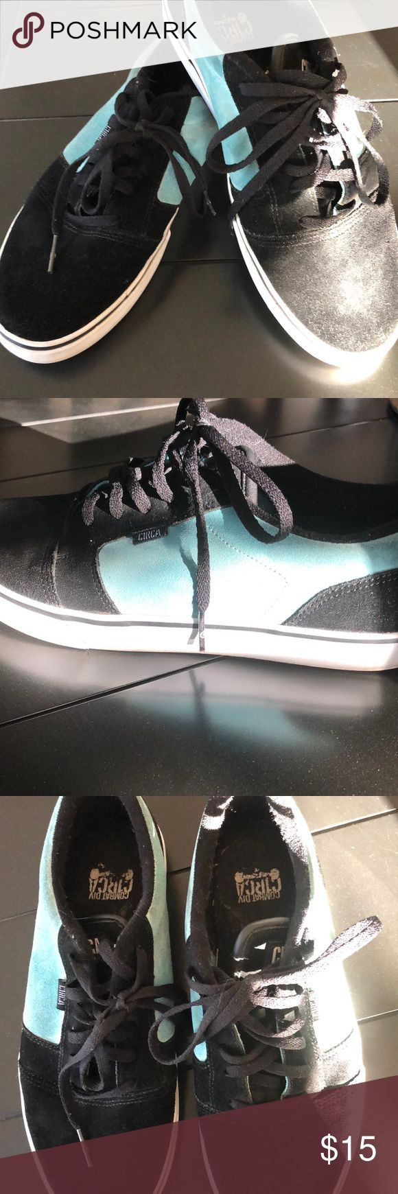 Men's Circa suede shoes Black and teal suede Circa shoes. Moderate wear but price reflects that. Circa Shoes Sneakers