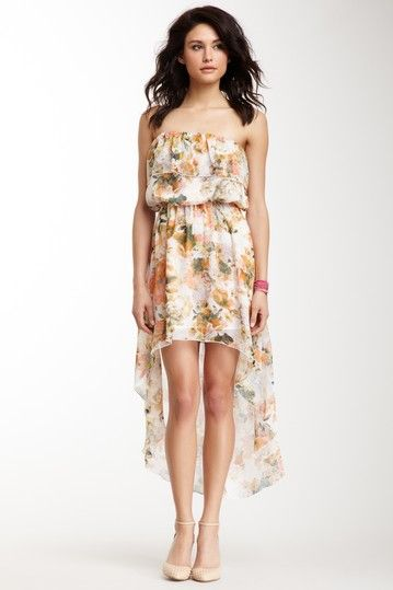 Romeo & Juliet Couture Floral Strapless Dress