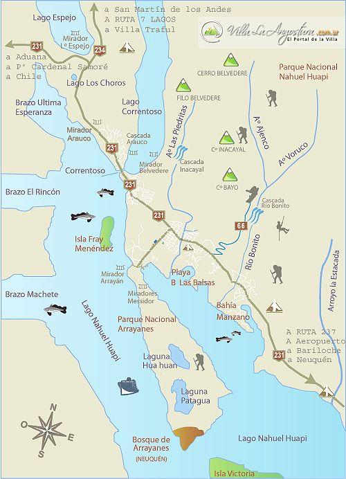 Bahía y Puerto Manzano - Cerro Bayo - Cascada Río Bonito