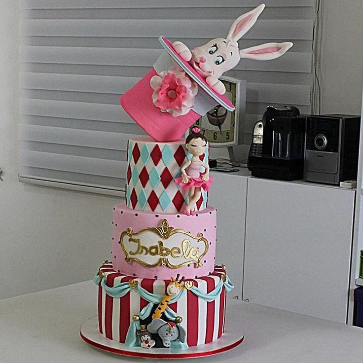 """""""... e agora Circo versão menina à linda Isabela.  #cakeriacarioca #cakes…"""