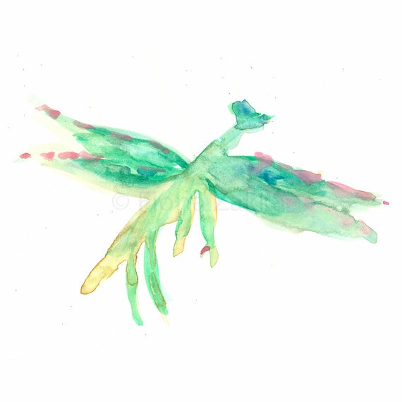 Painting+Watercolor+Dragonfly+Art+Digital+Print+8x10+by+fionazakka,+$25.00
