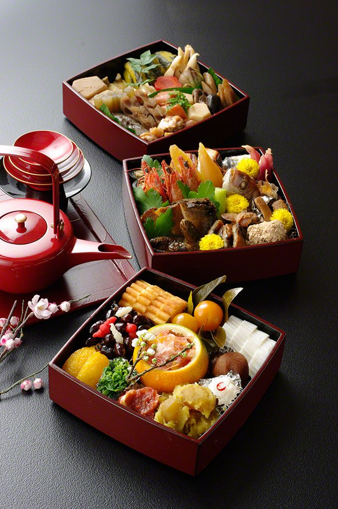 """Osechi"" are traditional Japanese New Year foods. The tradition started in the Heian Period (794-1185). 