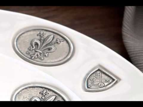 http://www.laterrinedirect.com  Wedding Specialist at NYC dinnerware retailer la Terrine talks about the Regale Collection.    Arte Italica's newest collection for fall is the Regale Collection. And similar to their Tuscan Dinnerware collection, Regale is also a combination of ceramic and pewter. The white ceramic used is made of a high-fired earth...