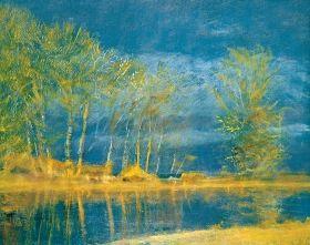 Mednyánszky László - Áprilisi fények (Tavaszi vihar), 1910 után