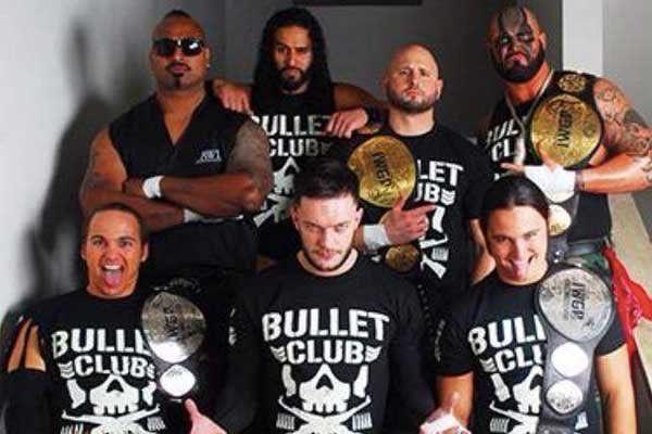 Bad Luck Fale, Tama Tonga, Karl Anderson, Doc Gallows, Nick Jackson, Finn Balor, and Matt Jackson