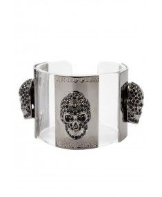 Philipp Plein - 'Skulls' Bracelet Silver