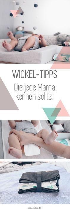 Wickel-Tipps für zuhause und unterwegs, die jede Mama kennen sollte // Werbung