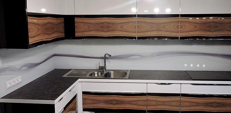 Sklo do kuchyne - sklenená zástena - Púchov