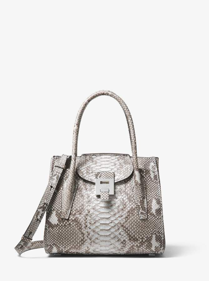 2d50a3247d3e Michael Kors Bancroft Medium Python Satchel in 2019