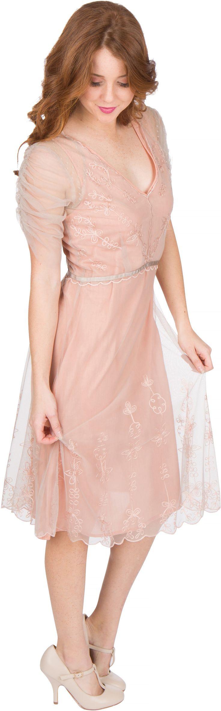 Al 251 Vintage Style Party Dress In Quartz By Nataya