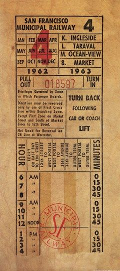 Vintage Railway Ticket