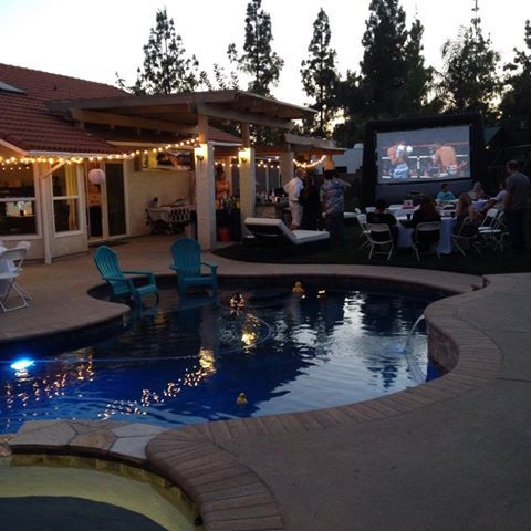 WWW.facebook.com/starlightmovienights www.starlightmovieights.com inflatable movie screen rental backyard movie screen rentals