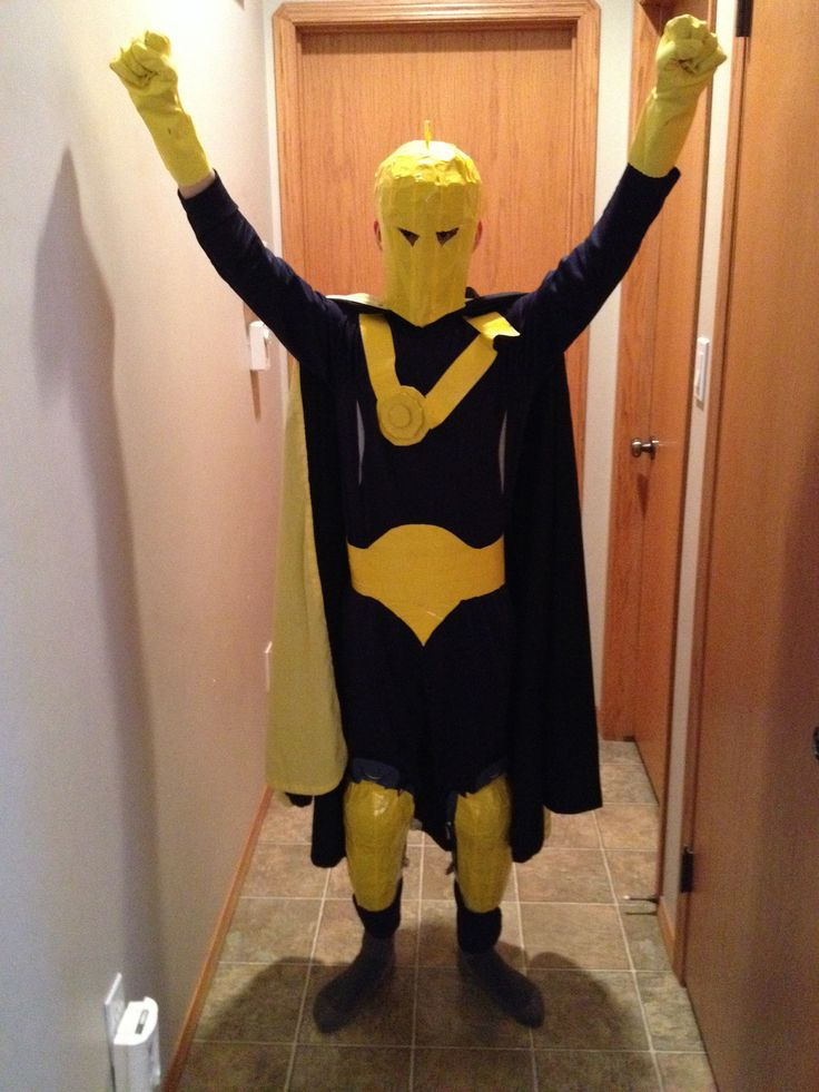 dr  fate  from young justice  using his robin cape  a mask made from duct tape cardboard  dish