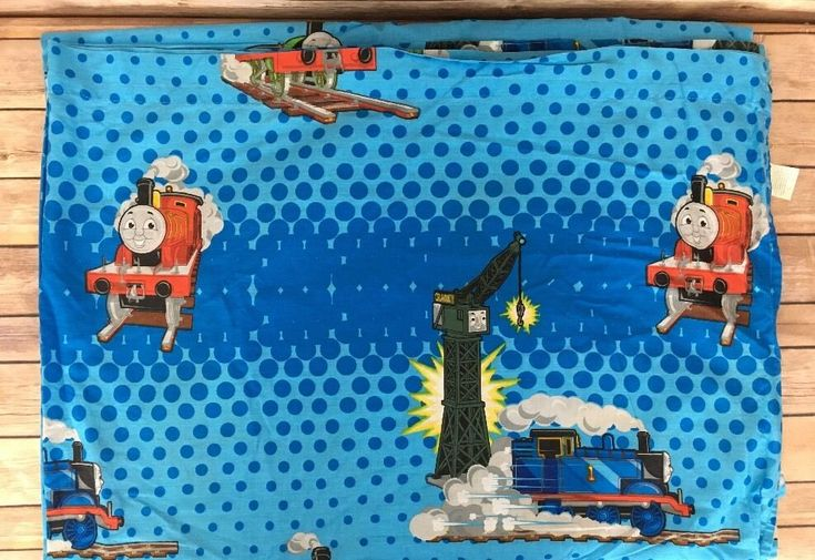 Thomas the Tank Engine Flat Twin Sheet Train Bedding Fabric  | eBay