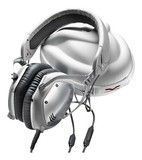 V-Moda - Crossfade M-100 Over-the-Ear Headphones - White Silver