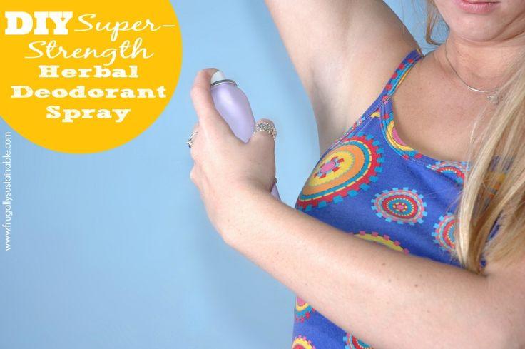 DIY Super-Strength Herbal Deodorant Spray...this is the best recipe EVER!