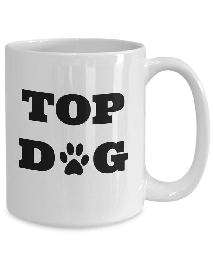 top dog funny 11oz ceramic mug doggy rescue cute funny by Laughtereverafter on Etsy