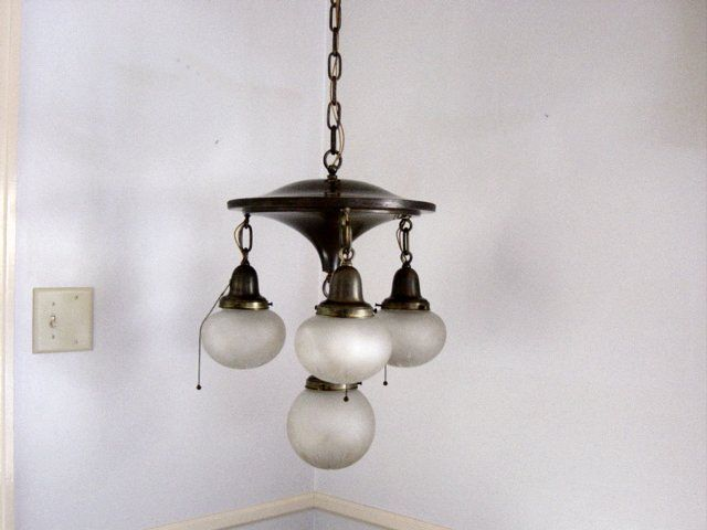 bulb brass pan light fixture 1920s from abbaspast on ruby lane