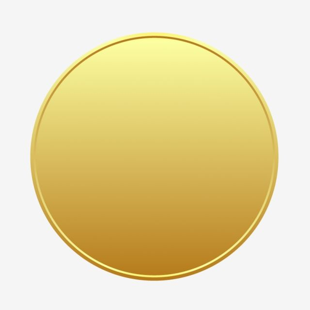 Gold Badge Circle Vector Bottom Gold Gold Circle Round Png And Vector With Transparent Background For Free Download Circle Badge Vector