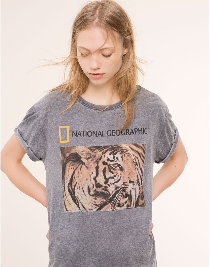 T-SHIRT NATIONAL GEOGRAPHIC - T-SHIRTS E TOPS - MULHER - PULL&BEAR Portugal