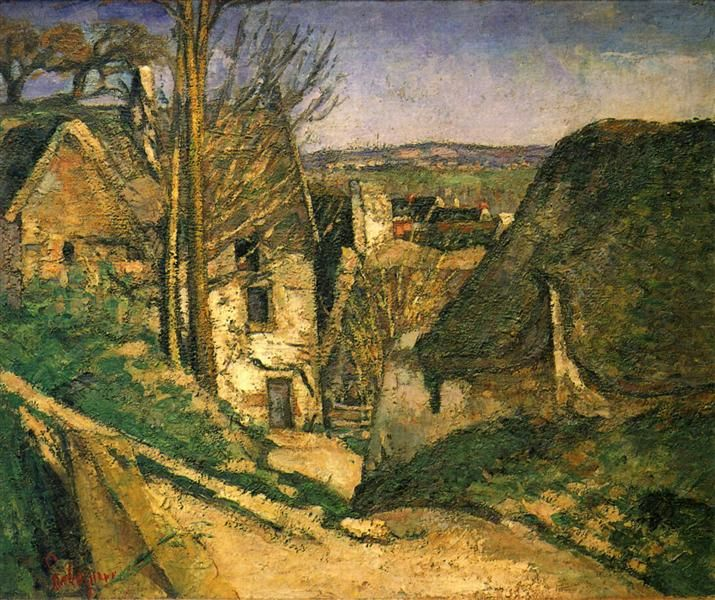 The Hanged Man's House in Auvers, 1873 - Paul Cezanne - WikiArt.org