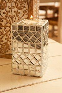 Creative Company   Just Mosaics: Mirror candleholder