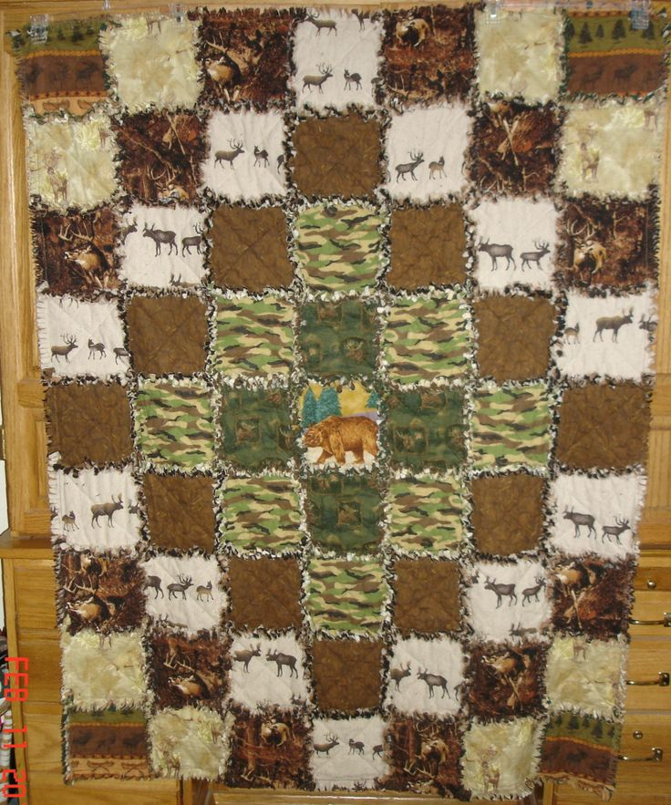 109 best Soft, comfy, cozy, handmade quilts images on Pinterest ... : hunting themed quilt patterns - Adamdwight.com