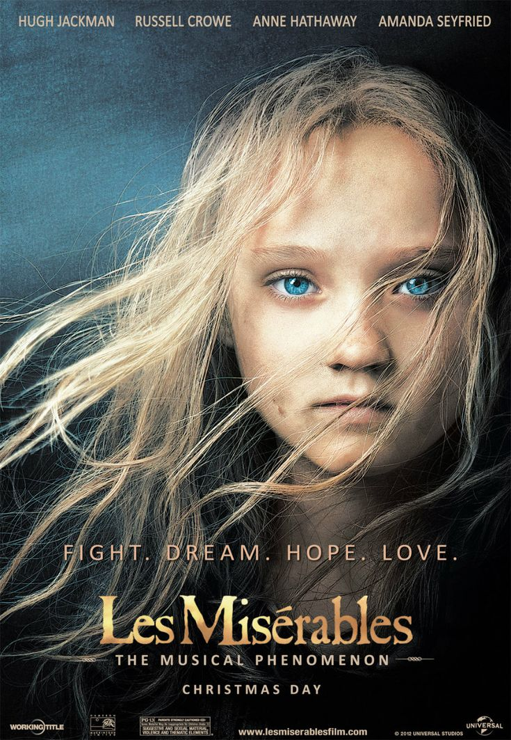 Les Misérables (2012) was such a heart wrenching movie! I practically sobbed my way through the whole film, both at sad and happy moments! It was AMAZING! It is now in my top 5 favorite movies and I definitely recommend it... but bring lots of tissues!!
