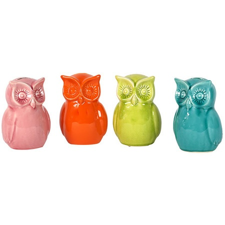 {Hooty Owl Bank - set of 4} such happy colours!