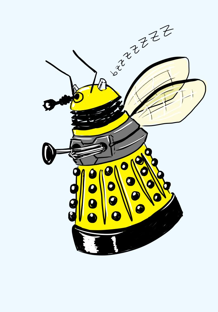 Dalek Bee by ~kartos on deviantART