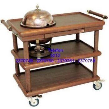 ÇORBA SERVİS ARABASI:Sıcak çorba servisi yapma müşteriye masasında sıcak çorba sunmak isteyen oteller lüks restoranlar için ahşap mobilyalı çorba servisi yapma arabası satış telefonu 0212 2370749
