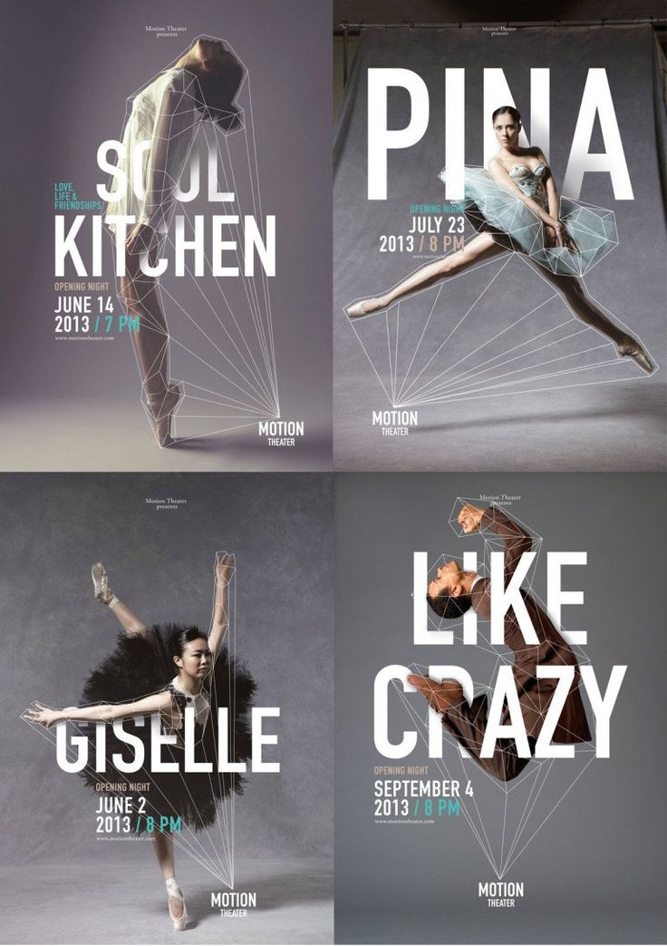 These examples demonstrate how text can balance dynamic images. While each of these photos encompasses some kind of movement, I feel like the the bold words help to center the pages.