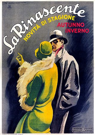 La Rinascente Dudovich Vintage Italian Fashion advertising - Artist: Marcello Dudovich ca. 1926
