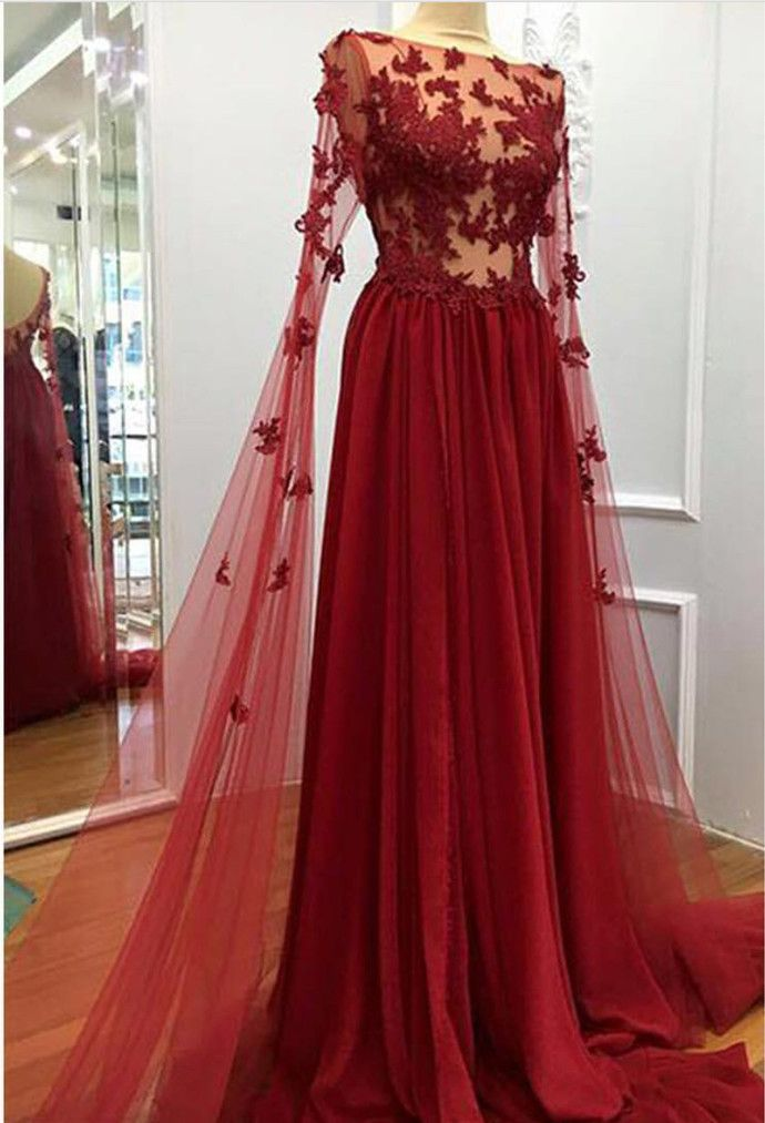 Charming Prom Dress, Sexy Evening Dress, Burgundy Long Prom Dress