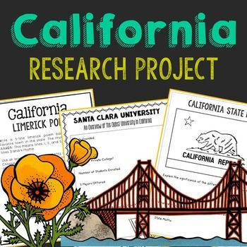 California State History Research Project. This complete notebook unit is the perfect companion to your annual state studies. Your students will use the internet to research a variety of topics to include: economics, government, geography, politics, current events, higher education, weather, historical figures, Native Americans, state symbols and icons, historic timeline, state flag, folk songs, Westward Expansion, the Civil War, and the Industrial Revolution.