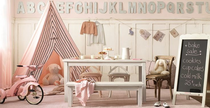 one of my absolute favorite playrooms: Playrooms Ideas, Little Girls, Restoration Hardware, Alphabet Wall, Plays Rooms, Alphabet Letters, Girls Playrooms, Girls Rooms, Kids Rooms