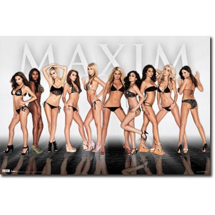 Maxim Girls DOOR POSTER PRINT 62 X 21 inches