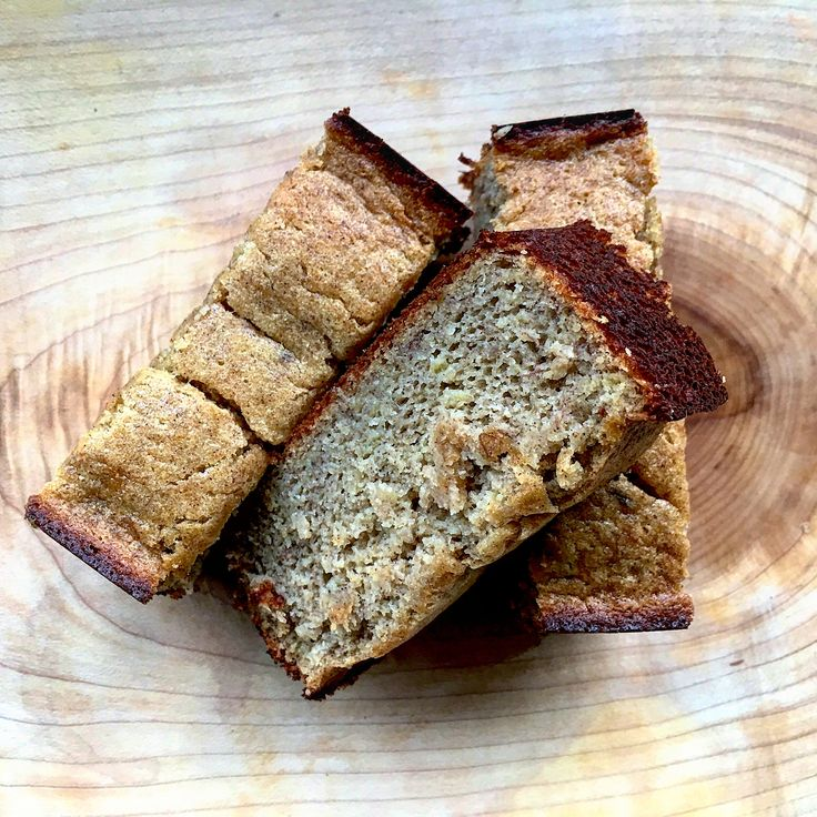 Chickpea Banana Bread -  Chickpea flour is packed with protein and fiber and lots of it. Protein and fiber are two of the things that give us sustenance when living a busy life and the best part is, it's plant based.