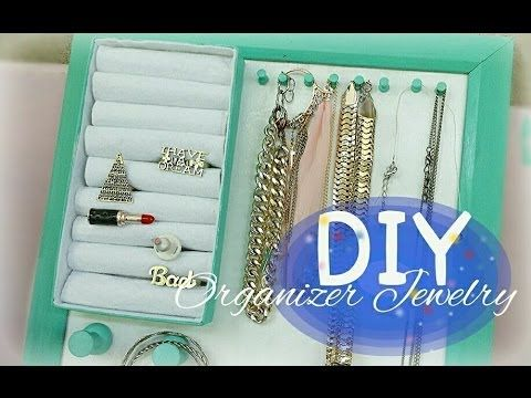 DIY - Organizer Jewelry for necklace and ring // tutorial espositore col...