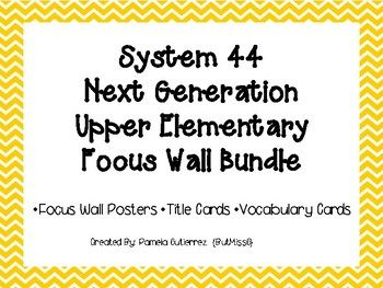 System 44 Next Generation Upper Elementary Focus Wall Bundle