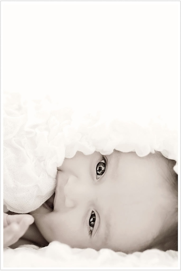 3 month photo... Love those eyes against the white blanket...